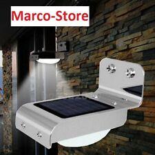 Faro faretto Led sensore PIR energia solare lampada fotovoltaico  luce lampione