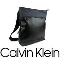 Calvin Klein Shoulder Bag Men New Messenger Leather Black Fashion iPad Bag