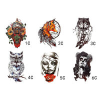 2x Owl Fox Wolf Waterproof Temporary Tattoo Stickers Beauty Arm Body Art Sticker