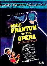 "NEW DVD  "" Phantom Of The Opera "" Nelson Eddy, Susanna Foster, Claude Rains"