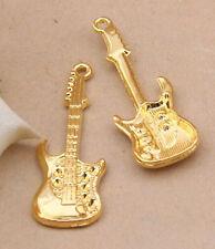 5pc Tibetan Gold(guitar)Bead Charms Accessories wholesale PJ2691