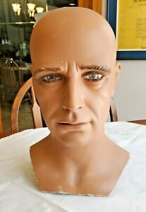 Neat Male Mannequin Head, No Hair-NICE