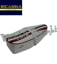 9231 - SELLA SELLONE FASCIA TRICOLORE BIANCA VESPA 150 SPRINT VELOCE GL