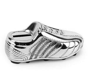 Silver Plated Football Boot Bank