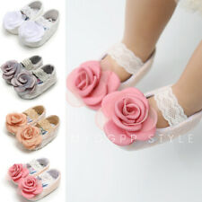 Newborn Baby Girl Shoes Rose Lace Cute Princess Toddler Soft First Walkers Shoes