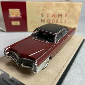 1/43 GLM Stamp Model 1965 Cadillac Fleetwood 60 Special Matador red pol STM65203