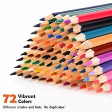 US 72 Premium Pre-Sharpened Colored Pencil Set for Drawing Sketching Artwork New
