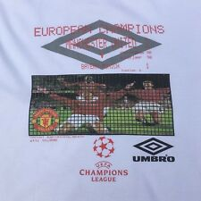 Manchester United T Shirt Champions League 99 XL Man UTD Football European Cup