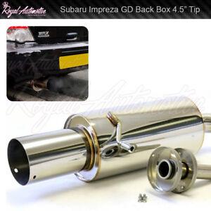 "Performance Back Back Exhaust 4.5"" Tip Muffler Subaru Impreza 01-07 GD New Age"