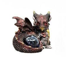 Miniature Fairy Garden Reddish Dragon w/ Gazing Ball - Buy 3 Save $5