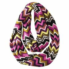 MISSONI for Target INFINITY SCARF Wool Passione Purple Chevron Zig Zag Boho Wool