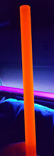 "1 PC 3/4"" DIAMETER 12"" LONG CLEAR ORANGE ACRYLIC FLUORESCENT PLASTIC COLORED ROD"