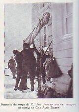 1922  --  DESCENTE CORPS DE M HAAS  CLUB ALPIN SUISSE