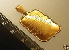 14k GOLD pendant THE LORD'S PRAYER in LATVIAN language