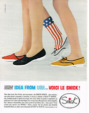 PUBLICITE ADVERTISING  1964   les chaussures détente Usa Snick