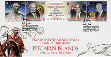 Pitcairn Islands 2011 FDC Prominent Pitcairners Part 1 Parkin Christian 4v Cover