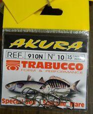 1 Confezione 15 AMI TRABUCCO AKURA serie 910N n 10 pesca BB52