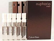 CALVIN KLEIN EUPHORIA FOR MEN 1.2ml .04oz x 5 COLOGNE SPRAY SAMPLE VIAL MINI LOT