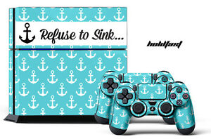 Designer Skin PS4 Playstation Sticker 4 Console + Controller Girl Decal HOLDFAST
