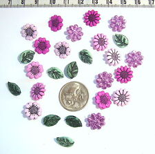 Novelty Buttons Country Flowers Garden Patchwork Quilting Scrapbooking  #226