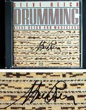Steve REICH Autographed DRUMMING Nonesuch Signed CD 1987 Steve Reich & Musicians