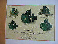 Sunshine Petrol Engines  Metal Repro Sign WAR271