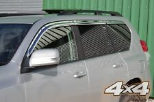 Auto Clover Chrome Wind Deflector Set for Toyota Land Cruiser 150 2009 - 2015 (6
