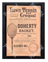 Historic Doherty Tennis Racket 1904 Advertising Postcard