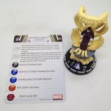 Heroclix Galactic Guardians set Mistress Death (skull) #044 Super Rare w/card!