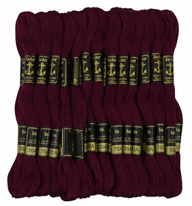 25 x Anchor Solid Hand Stitch Sewing Skeins Stranded Cotton Embroidery Thread