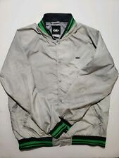 nike 6.0 mens windbreaker jacket with removable hoodie Large gray white Nylon