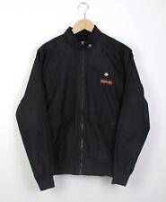 Adidas Safety Mens Black Bomber Style Zip Up Jacket Top Orange Logo Casual - M