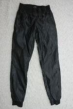 BARDOT black faux leatherette jogger gym pants size 6 BNWT