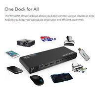 Wavlink 5K USB C HD Universal Docking Station Support 5K&Dual 4K for Laptop Win