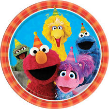 SESAME STREET Stars LARGE PAPER PLATES (8) ~ Birthday Party Supplies Dinner