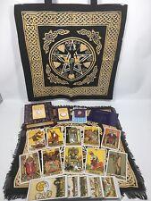 The Original Rider Waite Tarot Set - PLUS Goddess Tote & Cloth, Quartz & Bag