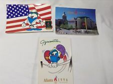 Set of 3 1996 Atlanta Summer Olympic Games Postcards Izzy the Flame Mascot