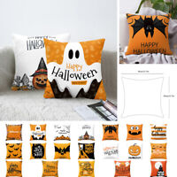Cartoon Halloween Pattern Square Decorative Pillow Case Home Sofa Cushion Cover