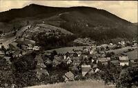 Oberschönau Thüringer Wald DDR s/w Postkarte ~1963 gelaufen Blick auf den Ort