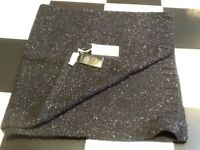 BNWT Stunning Ladies NW3 for Hobbs Large Navy/Silver Lurex Scarf, Tagged