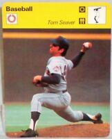 "New York Mets Tom Seaver 1977 MLB Basetball Sportscaster 6.25"" Tall Card 01-21"