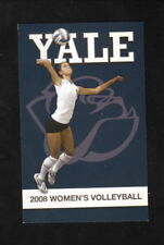 Yale Bulldogs--2008 Volleyball Pocket Schedule--New Haven Register