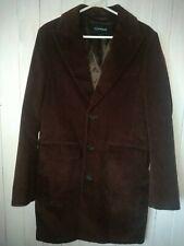 Topman Brown Corduroy Coat Mod 60s Trench - Size Medium