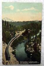 POSTCARD RAILROAD TRAIN SACRAMENTO RIVER MT SHASTA CASTELLA CALIFORNIA #2