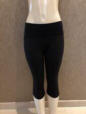 NWT Lululemon Wonder Under Crop III  Black Gym Yoga Fitness Size 8 $88