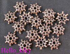 300Pcs Antiqued copper cut out flower bead caps A523