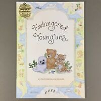 Endangered Young'uns cross stitch booklet baby animals owls seals zebras & more