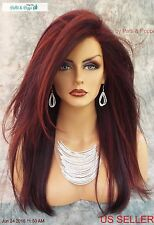 ZARA Lace Front Monotop Renau Wig $ back w/purchase See How Chocolate Cherry