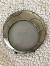 NEW Pewter Soccer Ball Picture Frame by Green Tree Gallery Holds 3.5 x 3.5 Photo