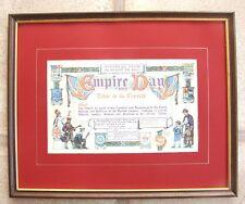 RARO Antico Incorniciato REPRO IMPERO giorno 1915 Certificato di vedere i dettagli dell'inserzione di